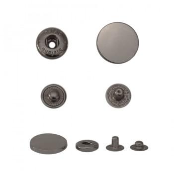 Кнопка установочная металлическая, 17мм цвет оксид