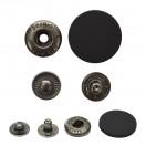 Кнопка установочная металлическая, 25мм цвет черный тач