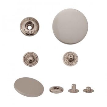 Кнопка установочная металлическая, 30мм цвет матовый никель