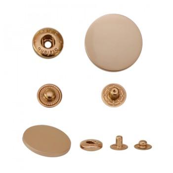 Кнопка установочная металлическая, 30мм цвет матовое золото
