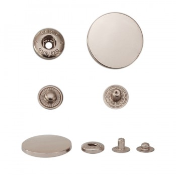 Кнопка установочная металлическая, 30мм цвет никель