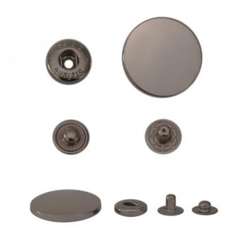 Кнопка установочная металлическая, 30мм цвет оксид