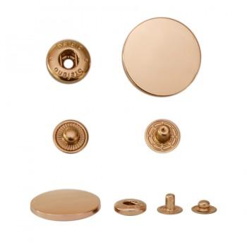 Кнопка установочная металлическая, 30мм цвет золото