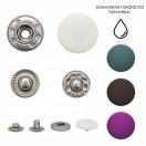 Кнопка установочная металлическая, 13мм, цвет никель+белый матовый