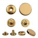 Кнопка установочная металлическая, усиленная,17мм цвет золото