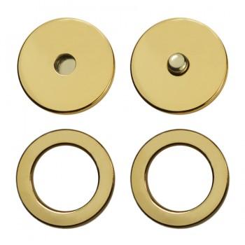 Кнопка установочная металлическая, 15мм цвет золото