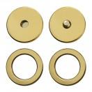 Кнопка установочная металлическая, 25мм цвет золото