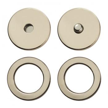 Кнопка установочная металлическая, 25мм цвет матовый никель