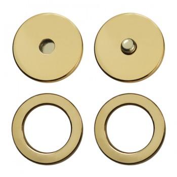 Кнопка установочная металлическая, 25мм цвет матовое золото