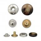 Кнопка установочная металлическая, 15мм цвет коричневый глянцевый