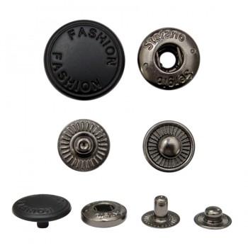 Кнопка установочная металлическая, 15мм