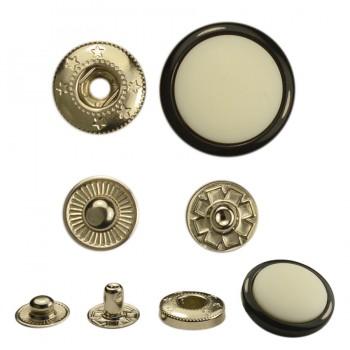 Кнопка установочная пластиковая, цвет черно-белый+никель