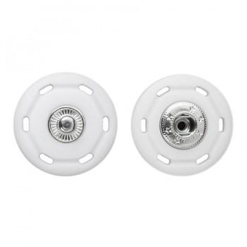 Кнопка пластиковая, пришивная,30мм цвет белый