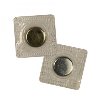 Кнопка магнитная потайная, 15*2мм цвет никель