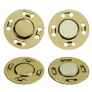 Кнопка металлическая, пришивная,21мм магнит, цвет золото