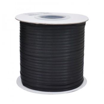 Лента атласная 0.3см, двухсторонняя, цвет 39-черный