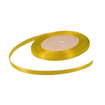 Лента атласная 0.5см, цвет 015-желтый
