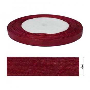 Лента атласная 0.6см, цвет 048-бордо