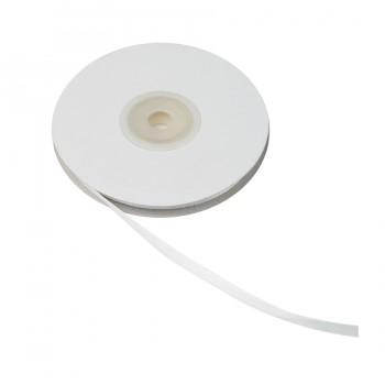 Лента атласная 0.6см, цвет 01-белый