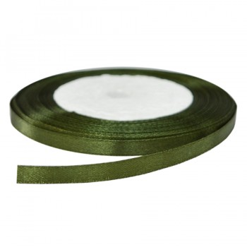 Лента атласная 0.6см, цвет 263-светло-оливковый