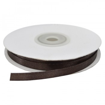 Лента атласная 0.6см, цвет 304-темно-коричневый