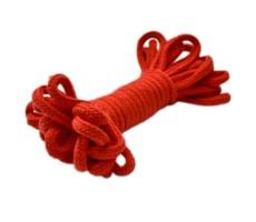 Шнур круглый мерсеризованный хлопок+полиэстер 5мм цвет 005 красный