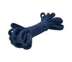 Шнур круглый мерсеризованный хлопок+полиэстер 5мм цвет 84 темно-синий