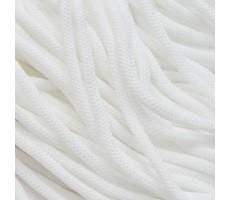 Шнур круглый полиэфирный 4.5мм цвет 001 белый