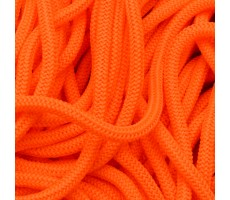 Шнур круглый полиэфирный 4.5мм цвет 258 неоново-оранжевый