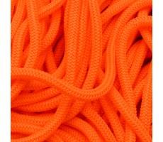Шнур круглый полиэфирный 4мм цвет 258 неоново-оранжевый