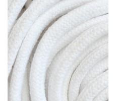Шнур круглый хлопковый плетельный с наполнителем 6мм цвет 001 белый