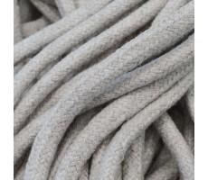 Шнур круглый хлопковый плетельный с наполнителем 6мм цвет 003 молочный