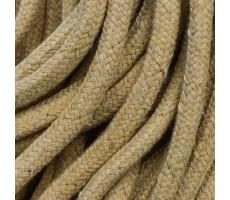 Шнур круглый хлопковый плетельный с наполнителем 6мм цвет 004 бежевый
