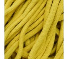 Шнур круглый хлопковый плетельный с наполнителем 6мм цвет 005 желтый