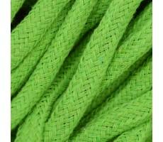 Шнур круглый хлопковый плетельный с наполнителем 6мм цвет 017 салатовый