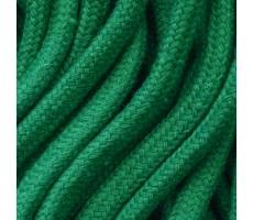 Шнур круглый хлопковый плетельный с наполнителем 6мм цвет 018 зеленый