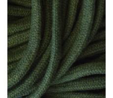 Шнур круглый хлопковый плетельный с наполнителем 6мм цвет 021 хаки