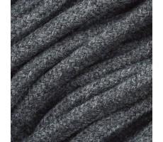 Шнур круглый хлопковый плетельный с наполнителем 6мм цвет 031 графит
