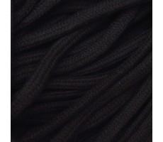 Шнур круглый хлопковый плетельный с наполнителем 6мм цвет 032 черный