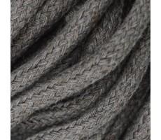 Шнур круглый хлопковый плетельный с наполнителем 6мм цвет 104 капучино