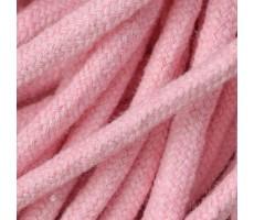 Шнур круглый хлопковый плетельный с наполнителем 6мм цвет 130 розовый