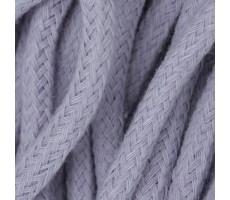 Шнур круглый хлопковый плетельный с наполнителем 6мм цвет 135 сиреневый