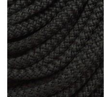 Шнур круглый полиэстер вязальный с наполнителем 5мм цвет черный