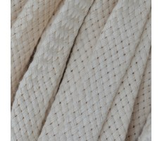 Шнур плоский хлопковый плетельный 10мм цвет 003 молочный