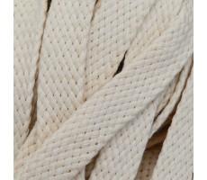 Шнур плоский хлопковый плетельный 15мм цвет 003 молочный