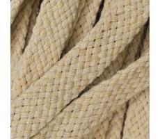 Шнур плоский хлопковый плетельный 10мм цвет 004 бежевый