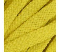 Шнур плоский хлопковый плетельный 10мм цвет 005 желтый