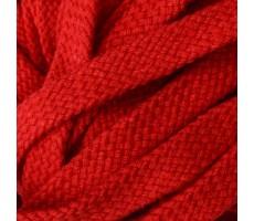 Шнур плоский хлопковый плетельный 10мм цвет 012 красный