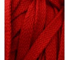 Шнур плоский хлопковый плетельный 15мм цвет 012 красный