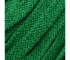 Шнур плоский хлопковый плетельный 10мм цвет 018 зеленый